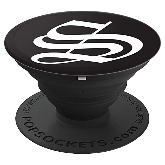 Amazon Old English Letter S On Black Popsockets Grip And