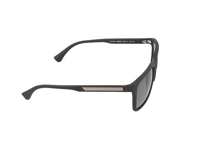 c8b74ed1482 Amazon.com  Emporio Armani EA4047 506381 Black Rubber Grey Polarized  Sunglasses   Emporio Armani  Shoes