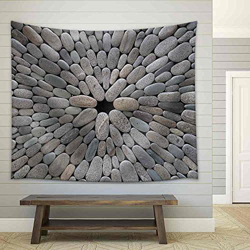 Round Stone Background Fabric Wall