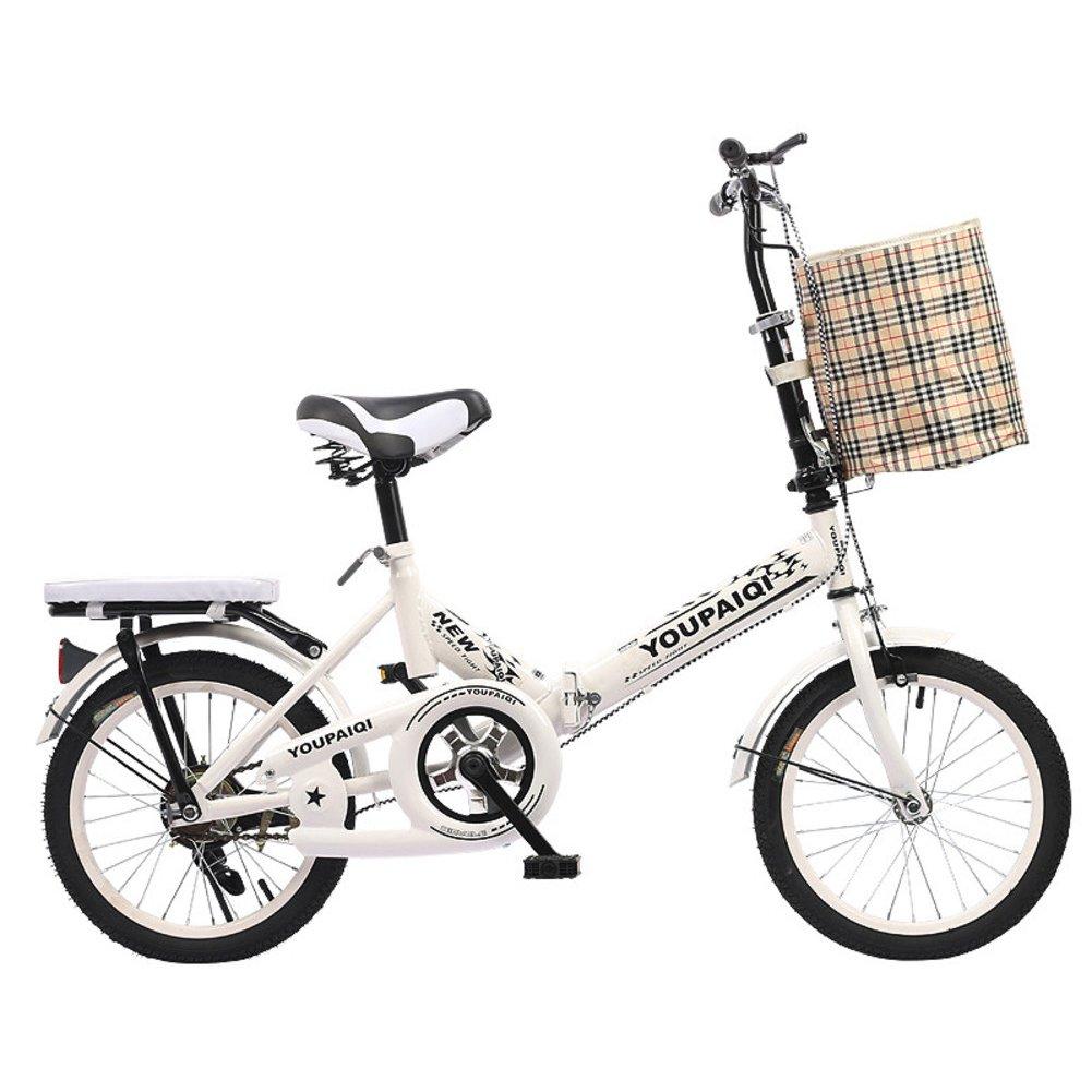 折りたたみ自転車,折りたたみバイク子供 学生 6-10 人の子供を高齢者 B07DKD95YC 16inch ホワイトB ホワイトB 16inch