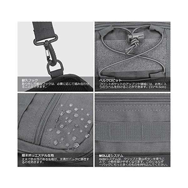61UDcM0XalL Wind Took Schultertasche Taktische Tasche MOLLE Tactical Sling Bag Multipurpose Daypack Crossbody Brusttasche Crossbag…