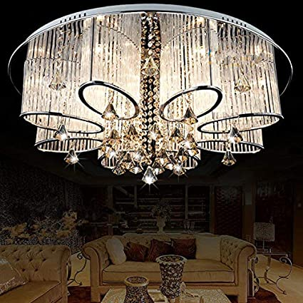 LEDVAS Modern Luxury Living Room Ceiling Lamp Fixture Crystal Chandelier  Lighting (80CM(31.5 IN))