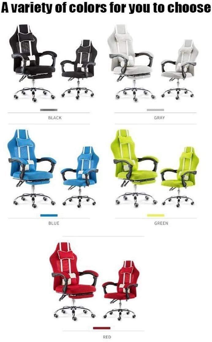 Fåtöljar GSN svängbar stol kontor hem höjd justerbar liggande stol med hög rygg andningsbar 360-° svängbar datorstol (färg: svart) gRÖN
