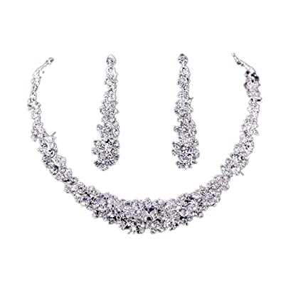 Koly womens bride bridesmaid crystal bridal jewelry sets hot sale koly womens bride bridesmaid crystal bridal jewelry sets hot sale necklace earrings set wedding junglespirit Image collections