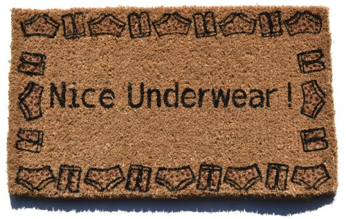 Imports Decor Decorated Coir Doormat, Nice Underwear, 18-Inch by 30-Inch - Nice Underwear Door Mat