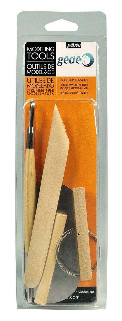 Gedeo Pebeo Utensilios para modelar arcilla de madera y metal