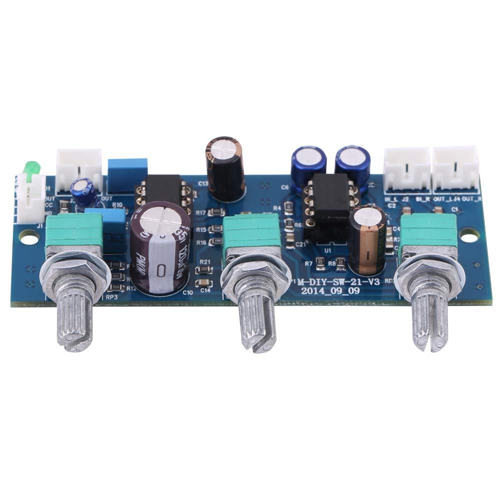 NE5532 DC10V ~ 25V Filtro Passa-Basso Pre-AMP per 2.1 canali Scheda preamplificatore Digitale Car Audio Stereo Modulo AMP con manopola del Volume Scheda Amplificatore Audio