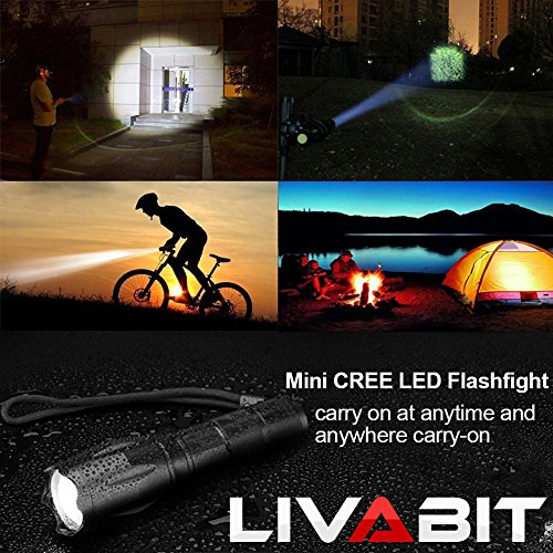 LIVABIT Tactical T1K Super Bright Rechargeable LED Flashlight Kit 1000LM Flashlight Torch by LIVABIT (Image #9)