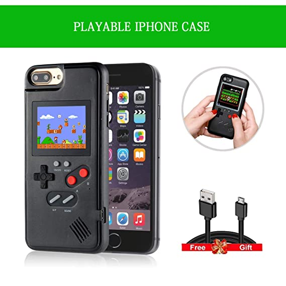 low priced 957b5 9ab6d iPhone Case 8 Plus, Phone Case Shell for iPhone X XS 8 7 6 iPhone 7Plus  6Plus, Funny Playable Shockproof Protective iPhone Case Back Cover with  Retro ...