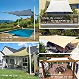 Rectangle Sun Shade Sail Canopy, 10' x 14' Patio