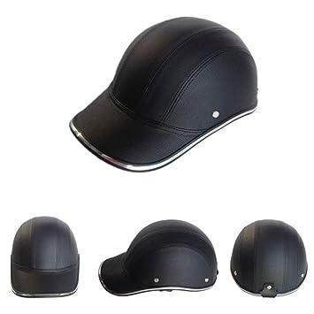 ZHUOTOP - Casco de seguridad para motocicleta, diseño de gorra de béisbol