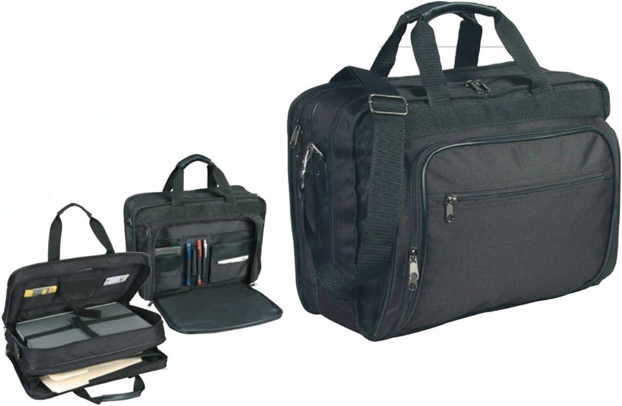 """ImpecGear 16.5"""" 17"""" Inches Expandable Laptop Case Briefcase Messenger Bag Computer Bag (Black 3-16"""")"""