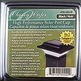 "Classy Caps SL082B Aluminum Imperial Solar Post Cap, 2.5"" x 2.5"", Black"