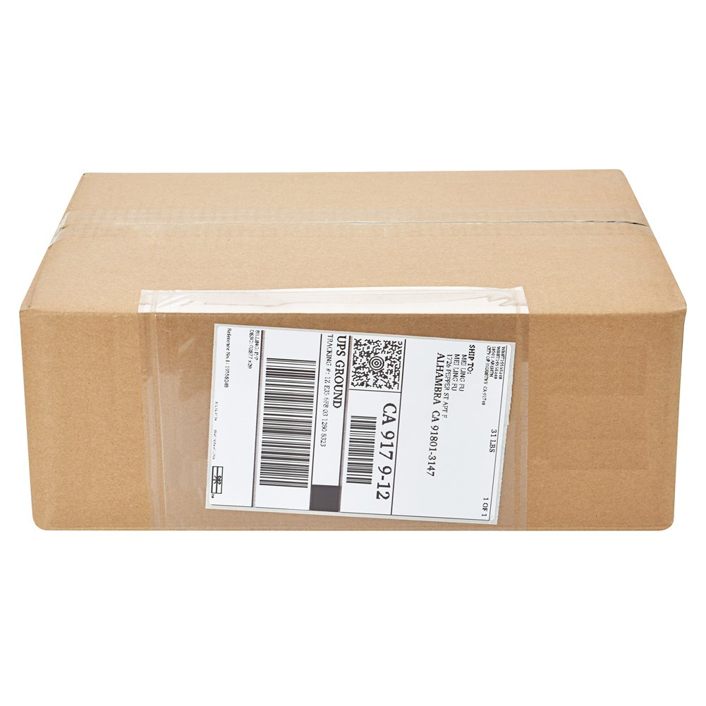 MFLABEL - Clear Adhesive Top Loading Packing List 7.5'' x 5.5'' Shipping Label Envelopes Pouches - 500pcs
