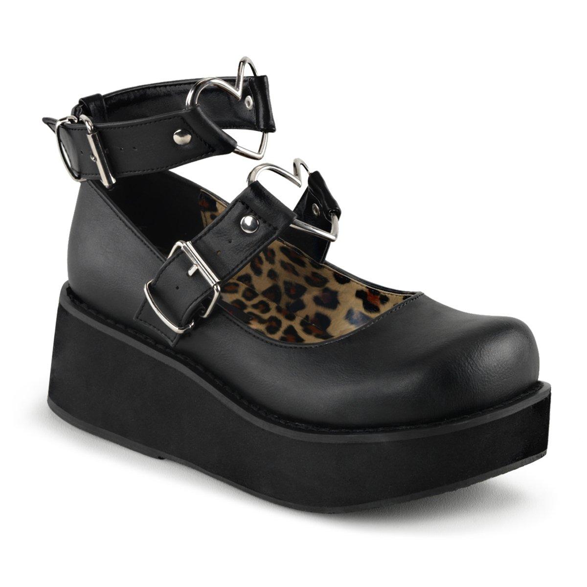 Demonia SPRITE-02 Womens Boots B016DAA2US 6 B(M) US Blk Vegan Leather