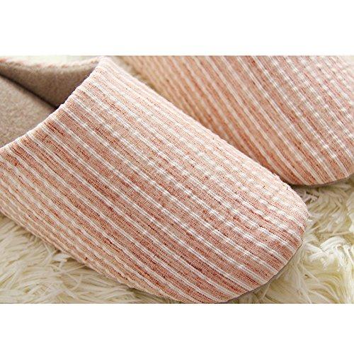 Slipper Pink Women Slippers Antiskid Men Cozy for Tatami House Cotton Winter BfFwPqq