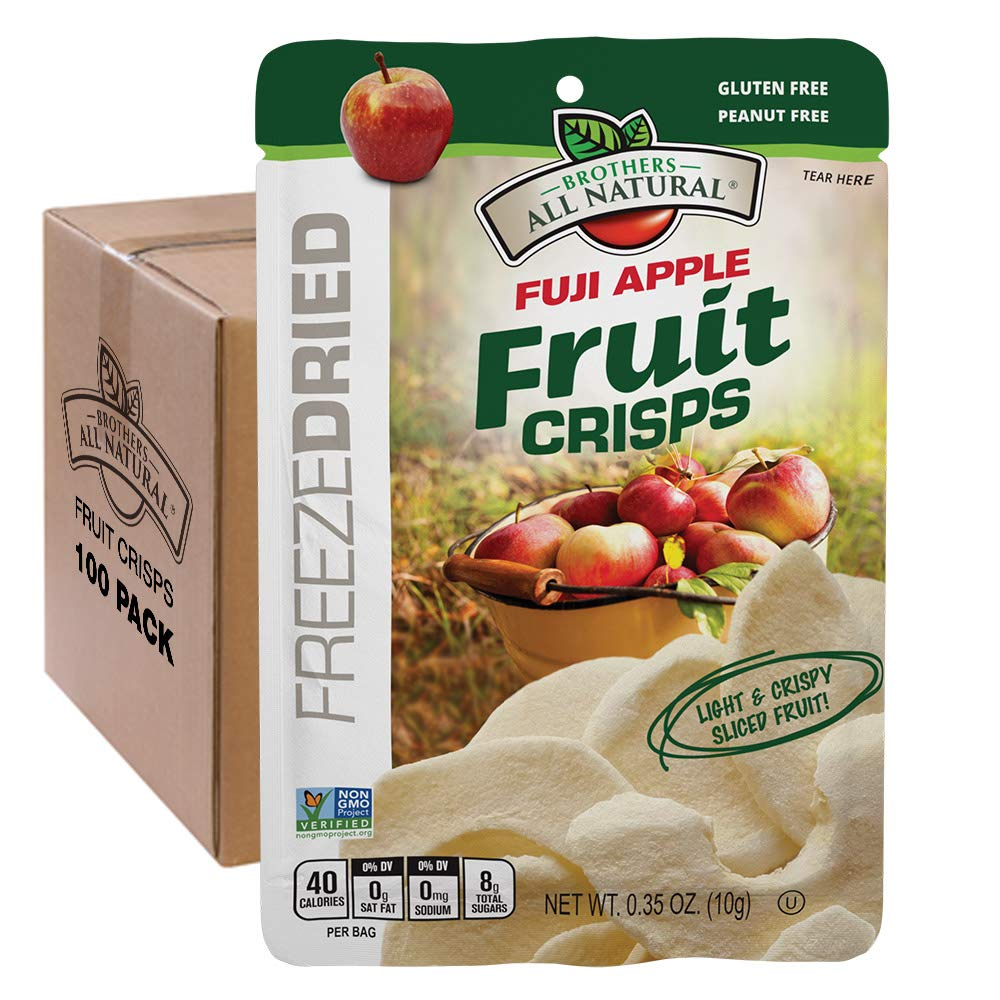 Brothers-ALL-Natural Fruit Crisps, Fuji Apple, 0.35 Ounce (Pack of 100) by Brothers-ALL-Natural
