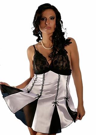64947dfeb78 Nine X- Women s Sexy Satin   Mesh Lingerie Plus Size   Reg Babydoll ...