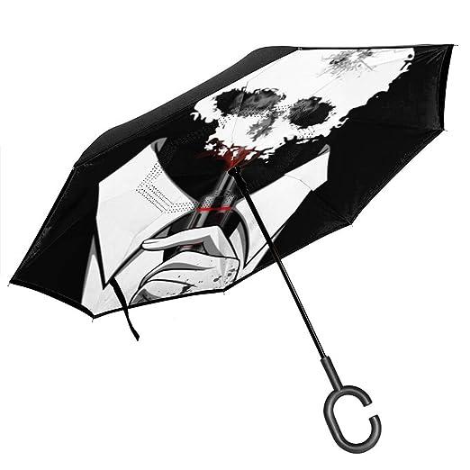 Csiemns - Paraguas invertido invertido con diseño de Calavera y ...