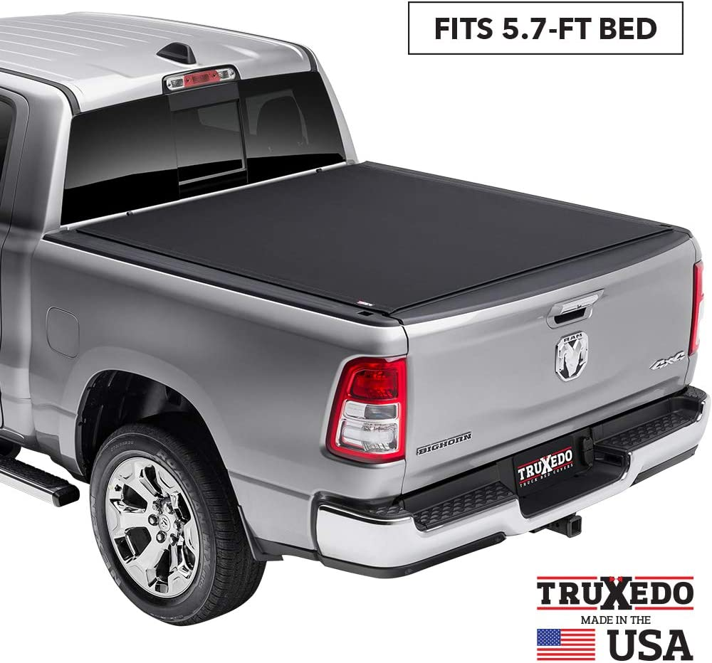 "TruXedo Pro X15 Soft Roll Up Truck Bed Tonneau Cover | 1485901 | fits 2019 - 2020 New Body Style Ram 1500 - Does Not Fit With Multi-Function (Split) Tailgate 5'7"" bed"