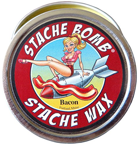 Bacon Stache Bomb Stache Wax- Moustache Wax From Maine by Stache Bomb