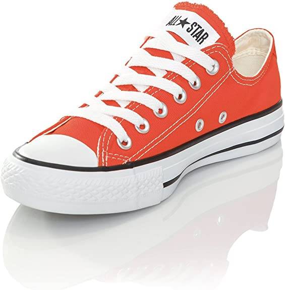 femme orange converse baskets online