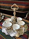 Ottoman Turkish Greek Arabic Coffee Mırra Espresso Serving Cup Gift Set