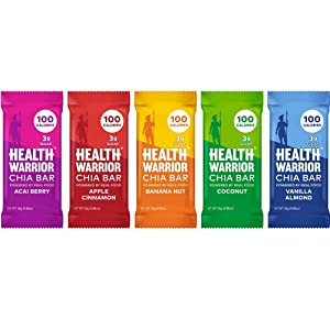 Health Warrior Chia Bars Best Seller Variety Pack, 15 Count