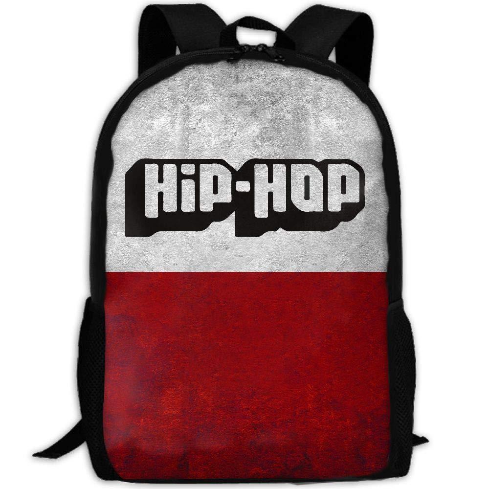 OIlXKV HIP HOP Print Custom Casual School Bag Backpack Multipurpose Travel Daypack For Adult