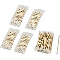 5paquetes (200pcs) desechables doble cabeza de madera Stick