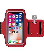Antber Brassard iPod Touch en néoprène antisueur antidérapant Brassard Sport iPod Touch Brassard Running iPod Touch Coque Sport iPod Touch avec Support pour Cartes câble clé (Rouge)