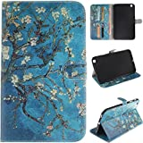 Samsung Galaxy Tab 3 T310 Leather Case,Robot Minions [Pretty Almond Tree] PU Leather Tablet PC Accessory Kits Flip Kickstand Protective Sleeve Cover Case For Samsung Galaxy Tab 3 8.0 inch T310