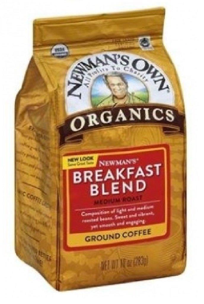 Newman's Own Organics Newman's Breakfast Blend, Ground Coffee, Medium Roast, Bagged 10oz