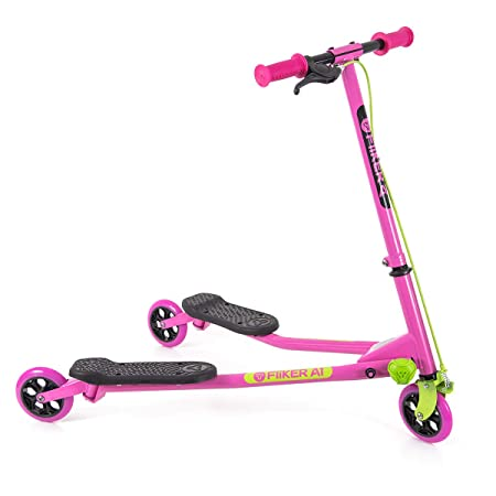 Yvolution Y Fliker Air A1 Swing Wiggle Scooter Three Wheels Drifter for Boys and Girls Age 5 Years Old and Up