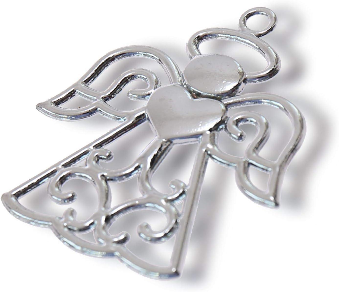 10 unidades Recuerdo de bautizo o primera comuni/ón llavero con forma de /ángel