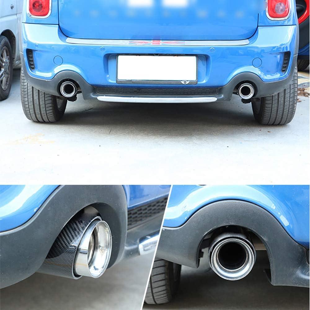 WZJFZPL 1X Carbon Auspuff Schalld/ämpfer Tip Cover Aufkleber , f/ür Mini Cooper S R55 R56 R57 R58 R60 R61 F55 F54 F56 F57 F60 Zubeh/ör Schalld/ämpfer