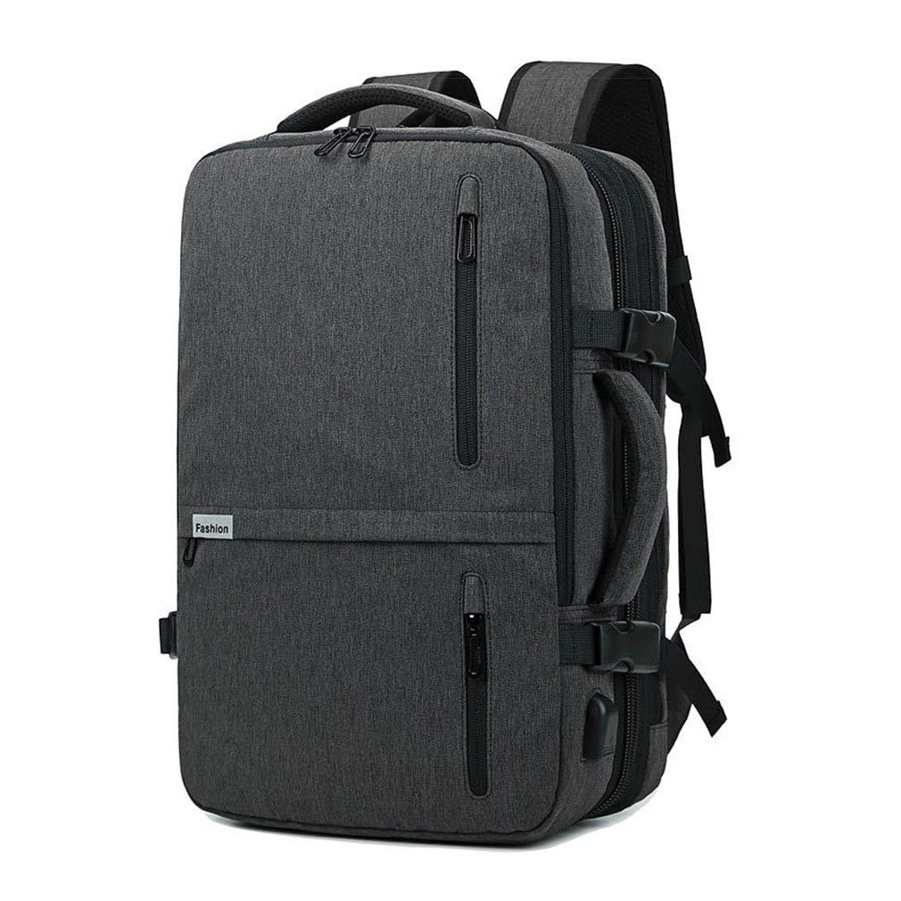ラップトップバックパックスケーラブルスクールカレッジブックバッグ付きUSB充電ポート防水用ハイキングスポーツ旅行リュックサック  grey B07NZ2M1WH