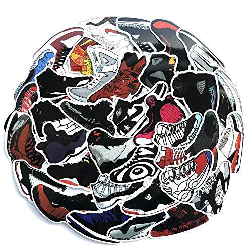 (A Sticker Shop 100pcs Shoe Stickers Creative DIY Stickers Funny Decorative Cartoon for Cartoon PC Luggage Computer Notebook Phone Home Wall Garden Window)