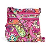 Vera Bradley Triple Zip Hipster Cross-body Bag (Pink Swirls)