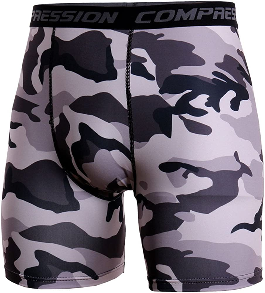 JJLIKER Men/'s Camouflage Compression Shorts Base Layer Athletic Underwear for Cycling Gym Workout Running Shorts