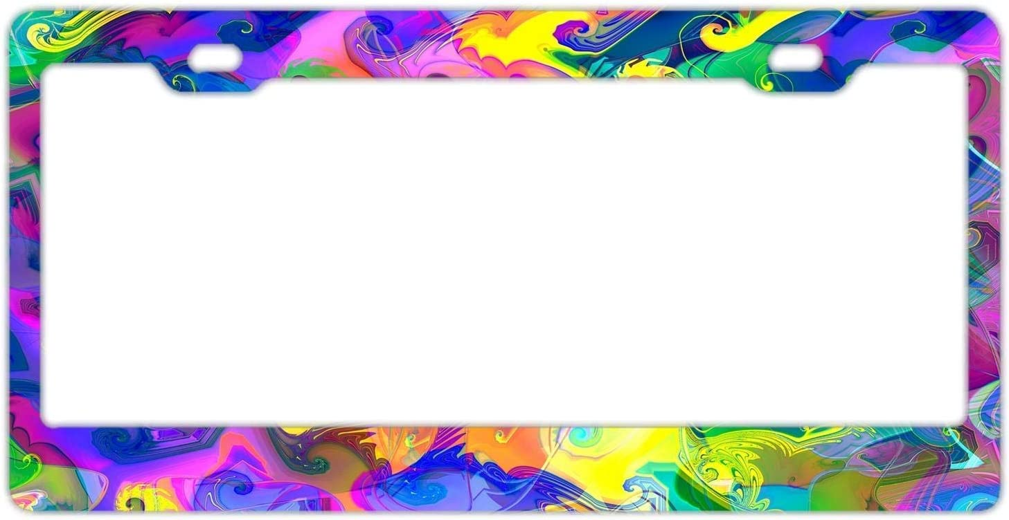 Lightning Tactical License Plate Frame Personality Label 12 x 6 inches