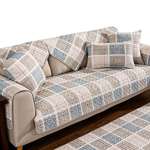 Da Jia Cotton Non-Slip Sofa Seats Mat Cover Pad Furniture Protectors With Multi Size Available(Age,36'W x 82'L)
