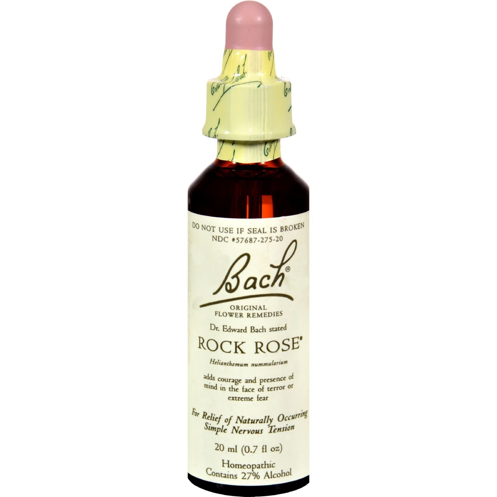 Bach Flower Remedies Essence Rock Rose - Homeopathic Remedy - 0.7 Fluid Ounce