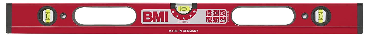 BMI 698120D'Robust' Alu-Spirit Level with Handholds, Red, 120 cm
