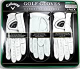 Callaway Golf Gloves Medium 3-Pack Cabretta Leather White