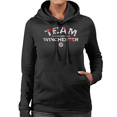 Supernatural Demon Hunters Team Winchester Women S Hooded Sweatshirt