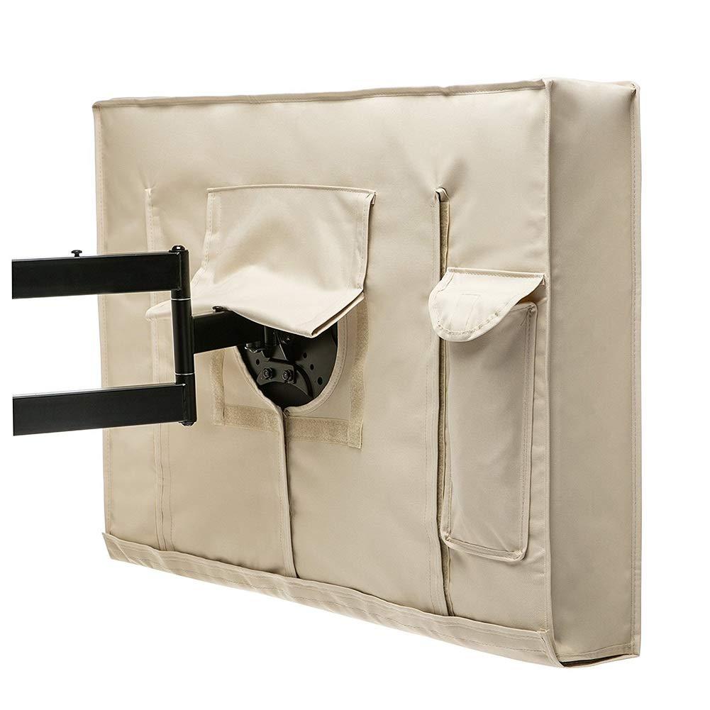 Tissu Oxford 600D Pochette De Rangement pour T/él/écommande Beige Size : 40-42in Funda de Muebles- Couverture TV Universelle Protecteur De T/él/évision /Étanche 22-65 Pouces