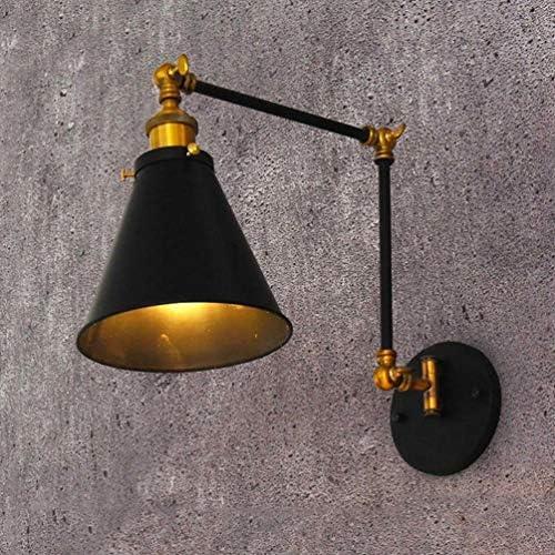 Applique da parete a braccio lungo regolabile applique decorativa vintage camera da letto industriale soggiorno studio fienile, lampada da parete a sospensione retr/ò americana con rocker meccanico