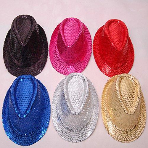 For Girls Jazz Costumes Dance (Lecent@ Belly Dance Jazz Dance Head Cap Hat With Sequins Party Accessories Halloween)