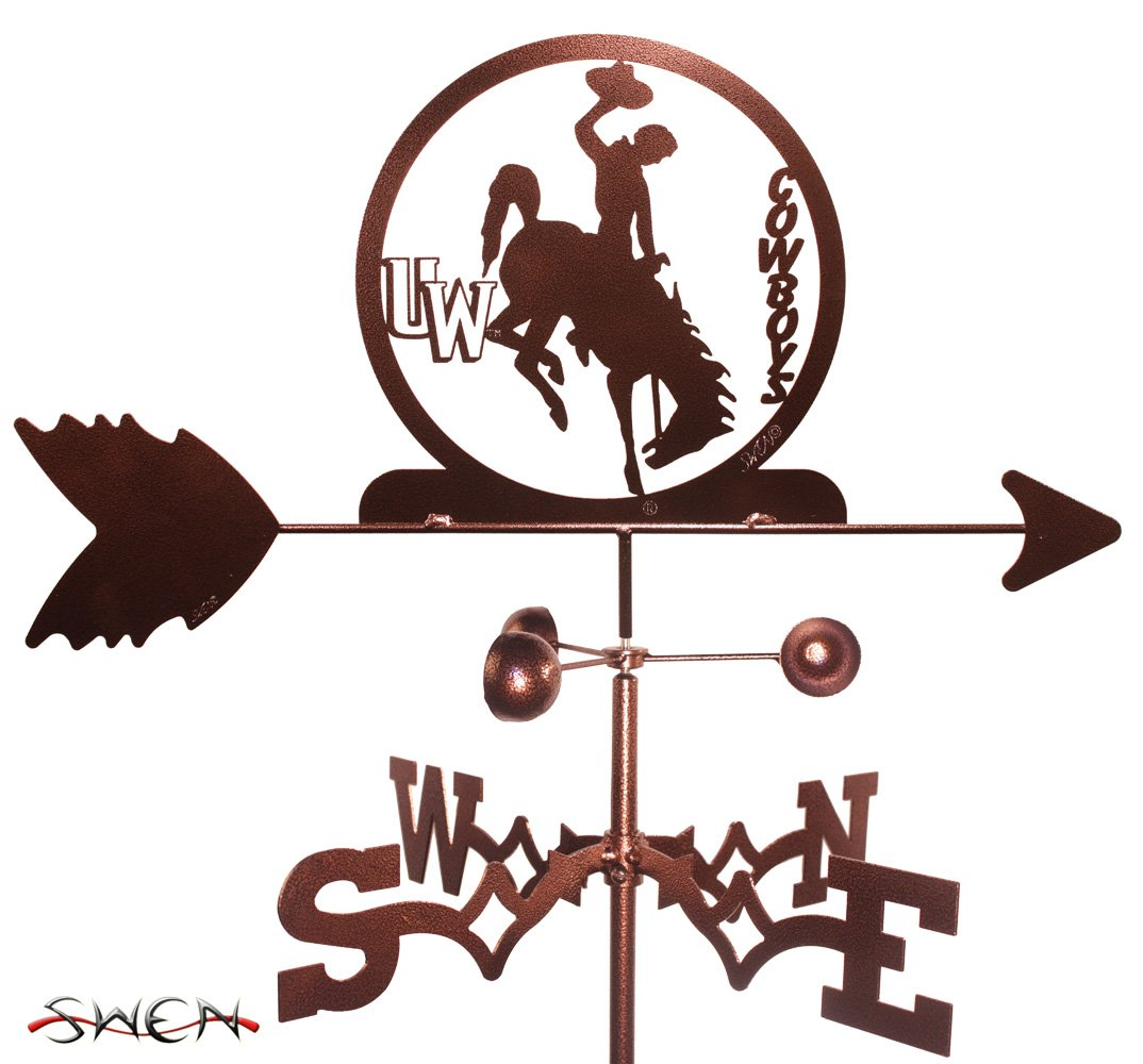 UNIVERSITY of WYOMING WYO COWBOYS FLAT POST Mount Weathervane ~NEW~